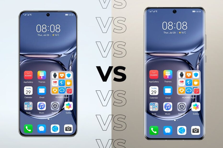 How do the two P50 series phones compare?